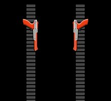 NES Zapper Leggings by Jango Snow (Orange edition) by jangosnow