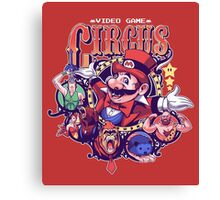 Video Game Circus Canvas Print