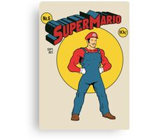 SUPER MARIO COMIC Canvas Print
