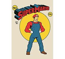SUPER MARIO COMIC Photographic Print