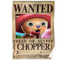Wanted Chopper - One Piece Poster