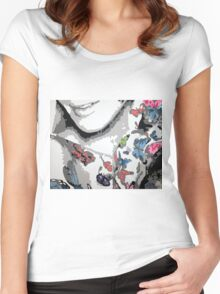 For the Love of Butterflies Women's Fitted Scoop T-Shirt