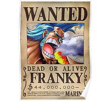 Wanted Franky - One Piece Poster