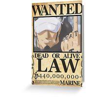 Wanted Trafalgar Law - One Piece Greeting Card