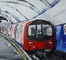 London Underground Northern Line Subway Train Acrylics by JamesPeart