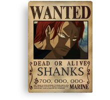 Wanted Shanks - One Piece Canvas Print