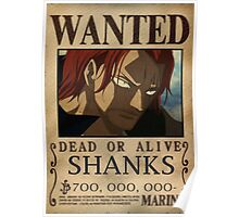 Wanted Shanks - One Piece Poster