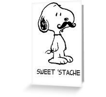 Snoopy Mustache Greeting Card
