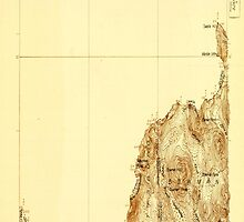 Maine USGS Historical Map Moose Bog 807569 1927 48000 by wetdryvac