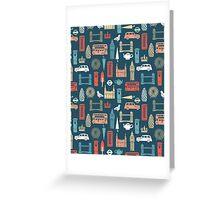 London Block Print - Multi by Andrea Lauren Greeting Card