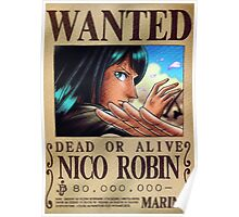 Wanted Robin - One Piece Poster