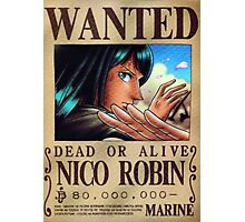 Wanted Robin - One Piece Photographic Print