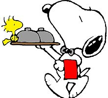 Snoopy Bellboy Photographic Print