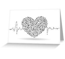 MUSIC IS LIFE Greeting Card