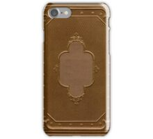 Antique book cover with a frame relief iPhone Case/Skin