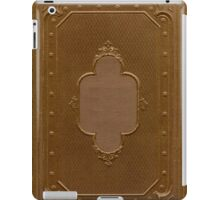 Antique book cover with a frame relief iPad Case/Skin