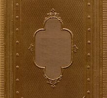 Antique book cover with a frame relief by Colorello