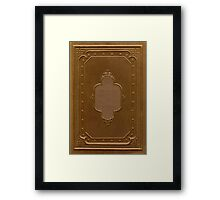 Antique book cover with a frame relief Framed Print