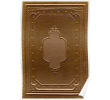 Antique book cover with a frame relief Poster