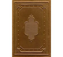 Antique book cover with a frame relief Photographic Print