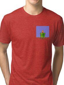 Super Mario Bros Breast Pocket Shirt Tri-blend T-Shirt