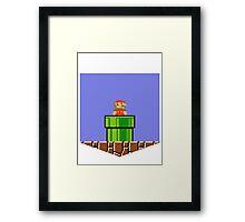 Super Mario Bros Breast Pocket Shirt Framed Print
