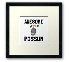 Awesome Possum Framed Print