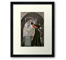 WitchCraft .. casting of the runes Framed Print