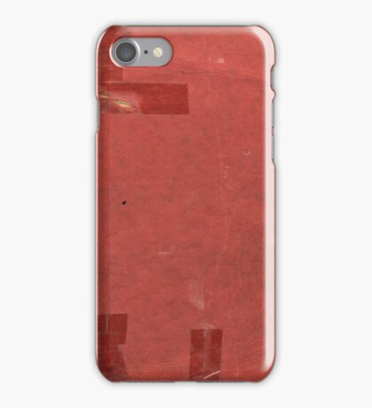 Vintage red book with spots and tape iPhone Case/Skin