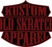 Old Skratch Kustom Apparel Shield by OldSkratch