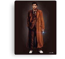 Tenth Doctor Full Body Portrait Canvas Print
