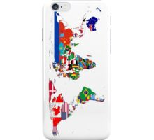 The World Flag Map iPhone Case/Skin