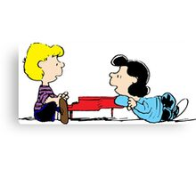 Lucy and Schroeder Peanuts Canvas Print