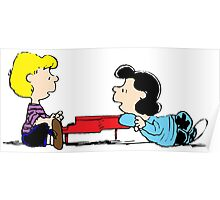 Lucy and Schroeder Peanuts Poster