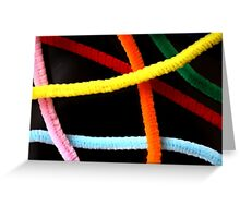 day 49: pipe cleaners Greeting Card