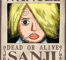 Wanted Sanji - One Piece by Amynovic