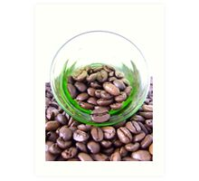 A glass of coffee Art Print