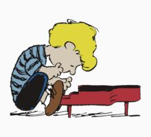 Schroeder on piano Peanuts by Thomassus