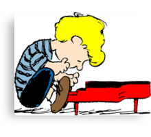 Schroeder on piano Peanuts Canvas Print