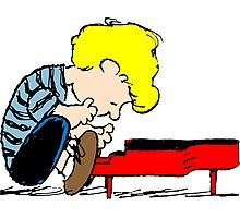 Schroeder on piano Peanuts Photographic Print