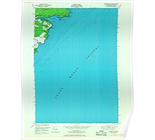 Maine USGS Historical Map Moose River 806938 1949 24000 Poster