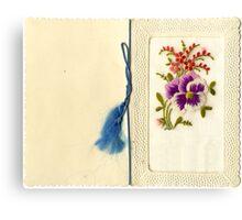 Beautiful Vintage Greeting Card Canvas Print