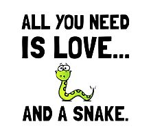 Love And A Snake Photographic Print