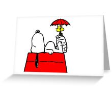 Woodstock with Snoopy Greeting Card