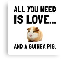 Love And A Guinea Pig Canvas Print