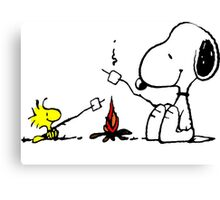 Snoopy and Woodstock Marshmallow Canvas Print