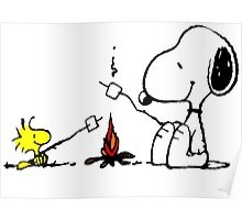 Snoopy and Woodstock Marshmallow Poster