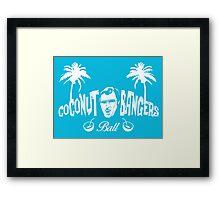 Coconut Bangers Ball Framed Print