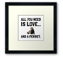 Love And A Ferret Framed Print