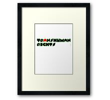 Transhuman Rights Framed Print